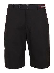 Alexander McQueen - Cotton bermuda shorts in black