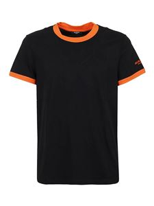 Balmain - Contrasting trims detailed T-shirt in black