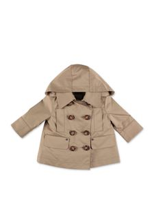 Burberry - Hooded trench coat in Honey color