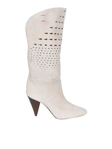 Isabel Marant - Lurrey boots in cream color