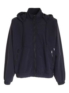MSGM - Hooded jacket in blue