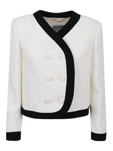 Moschino - Virgin wool cropped suit jacket in white