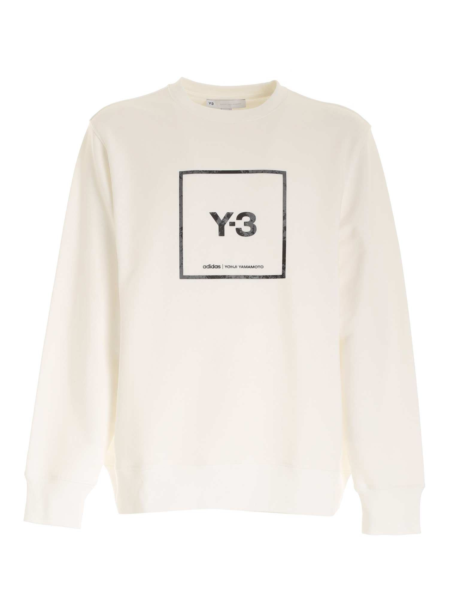 Y-3 OVER HOODED SWEATSHIRT IN WHITE