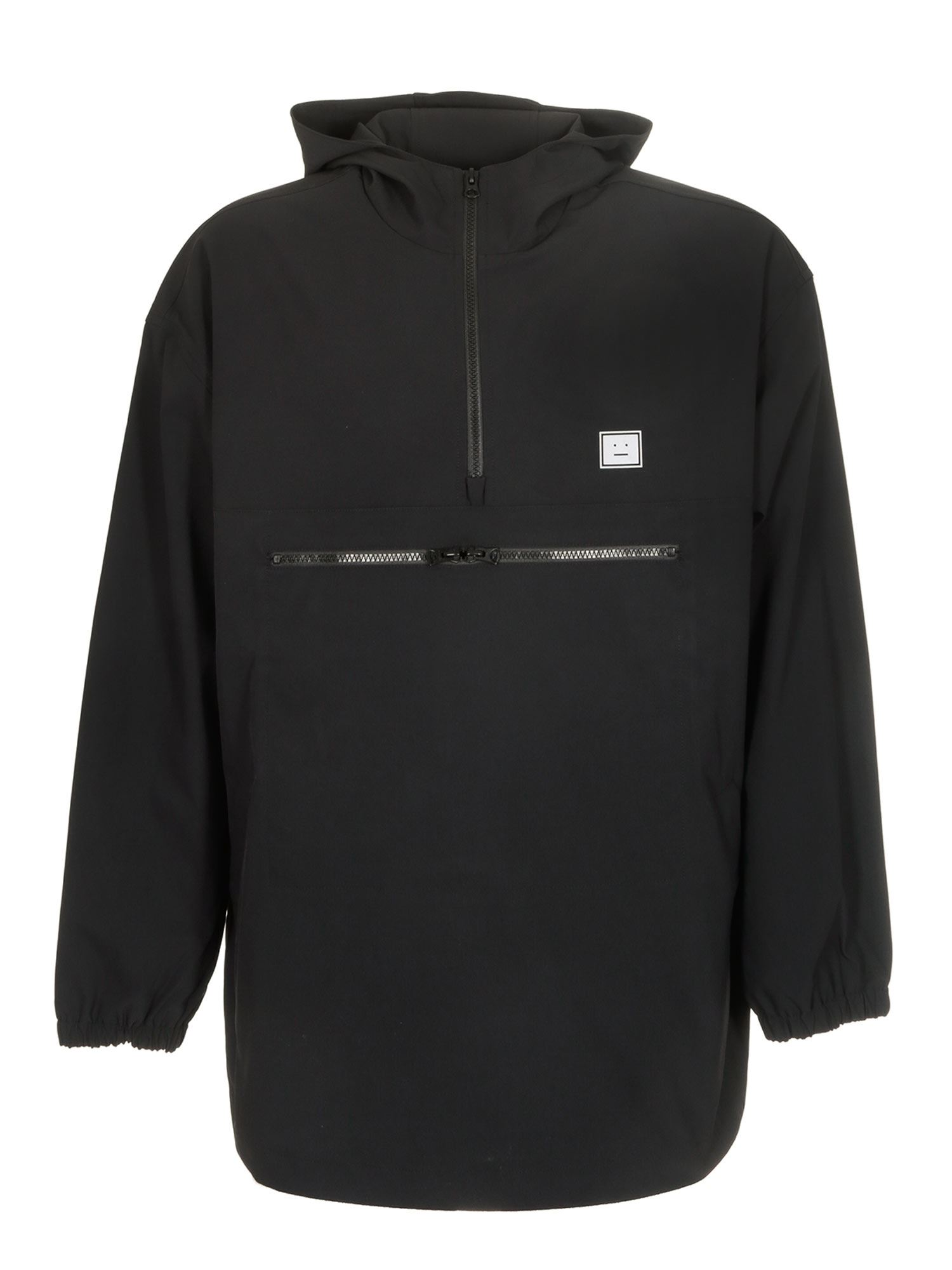 Acne Studios HOODED ANORAK JACKET IN BLACK