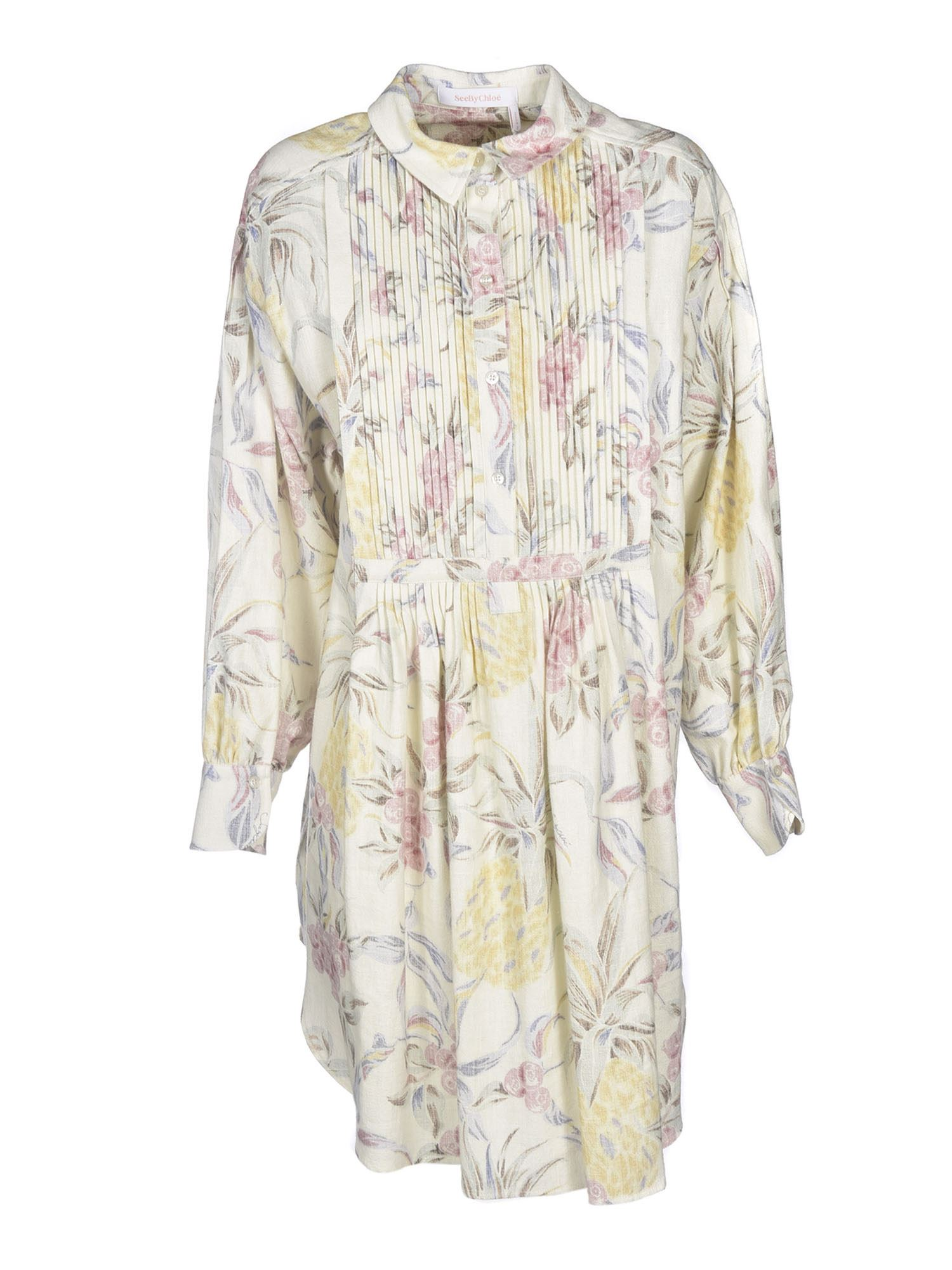 See By Chloé SPRING FRUITS PRINT SHIRT DRESS