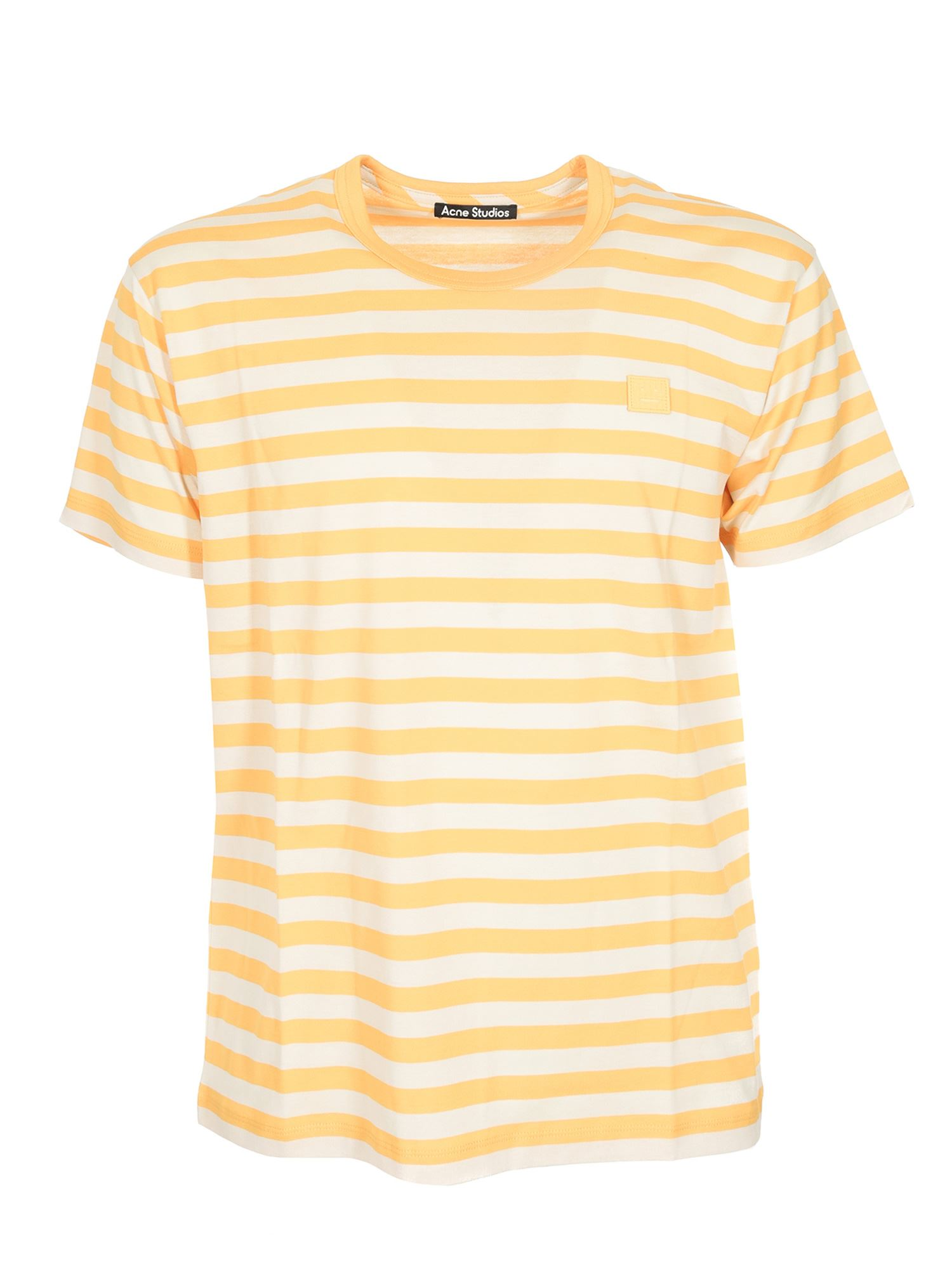 Acne Studios Striped Logo T-shirt Deep Yellow