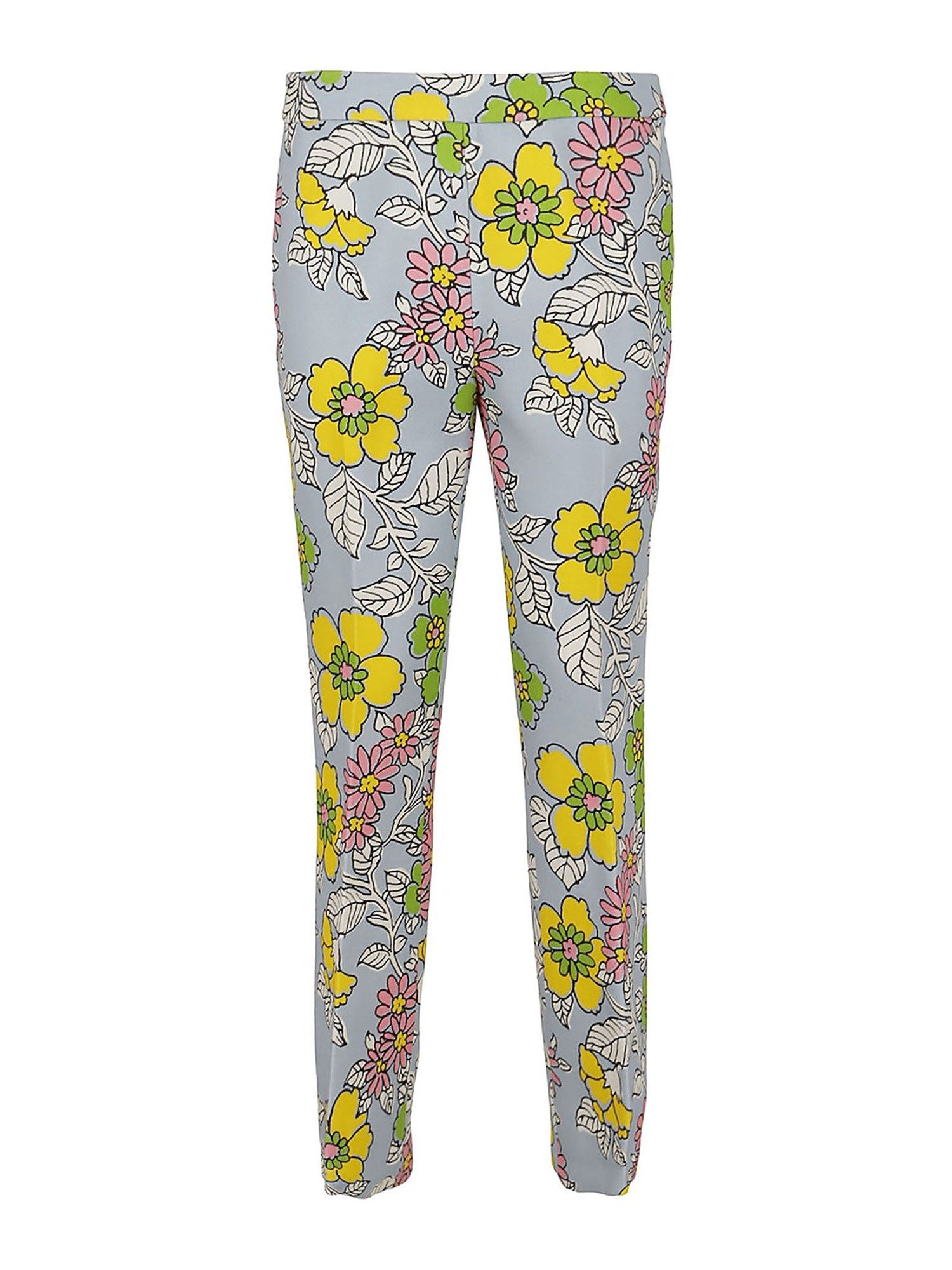 Tory Burch FLORAL PRINTED MULTICOLOR PANTS