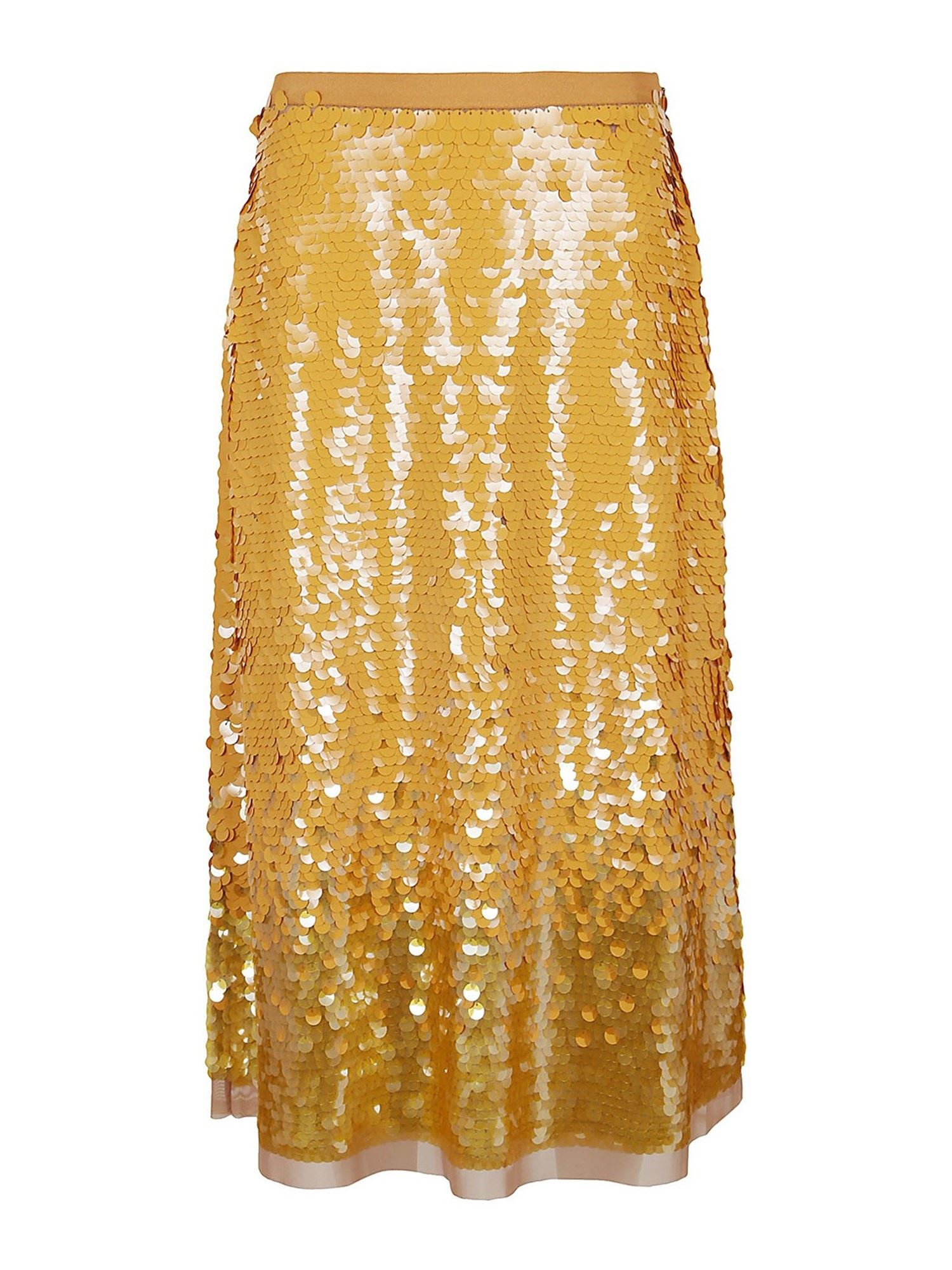 Tory Burch SEQUINS SKIRT IN GOLD COLOR