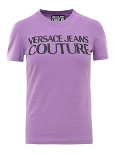 Versace Jeans Couture - Logo print T-shirt in purple