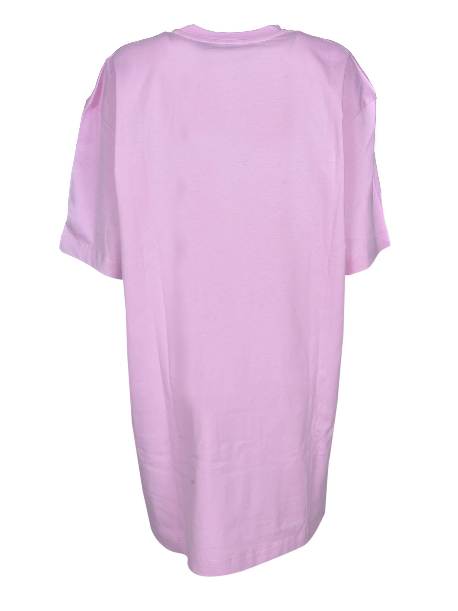 MSGM Cottons LOGO DRESS IN PINK
