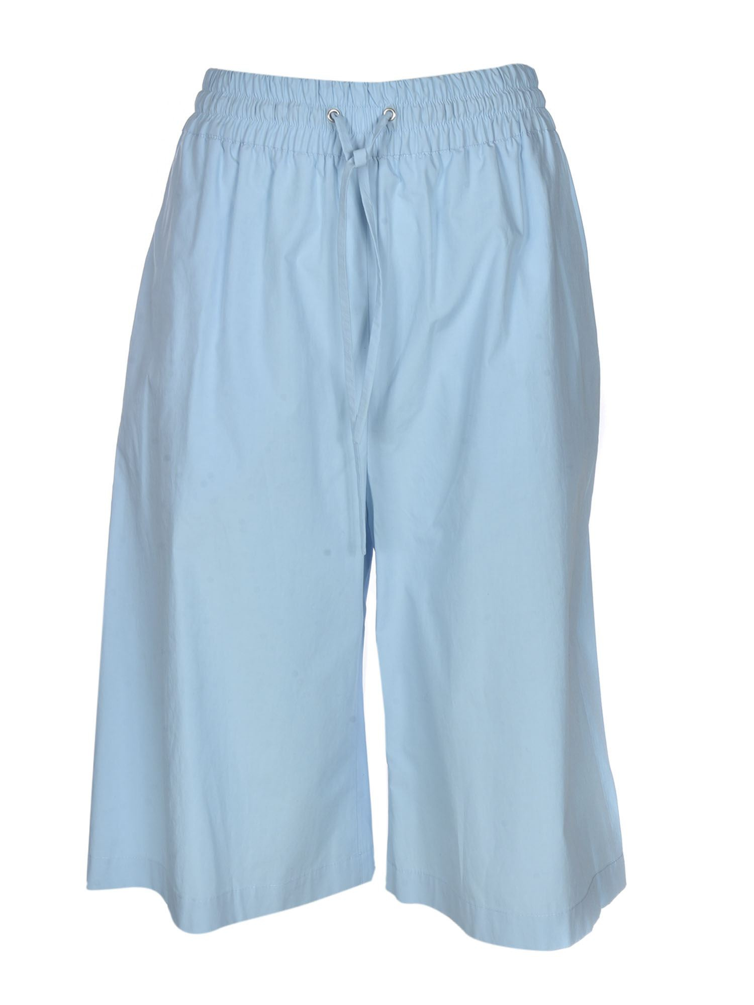 Msgm HIGH WAIST BERMUDA SHORTS IN LIGHT BLUE