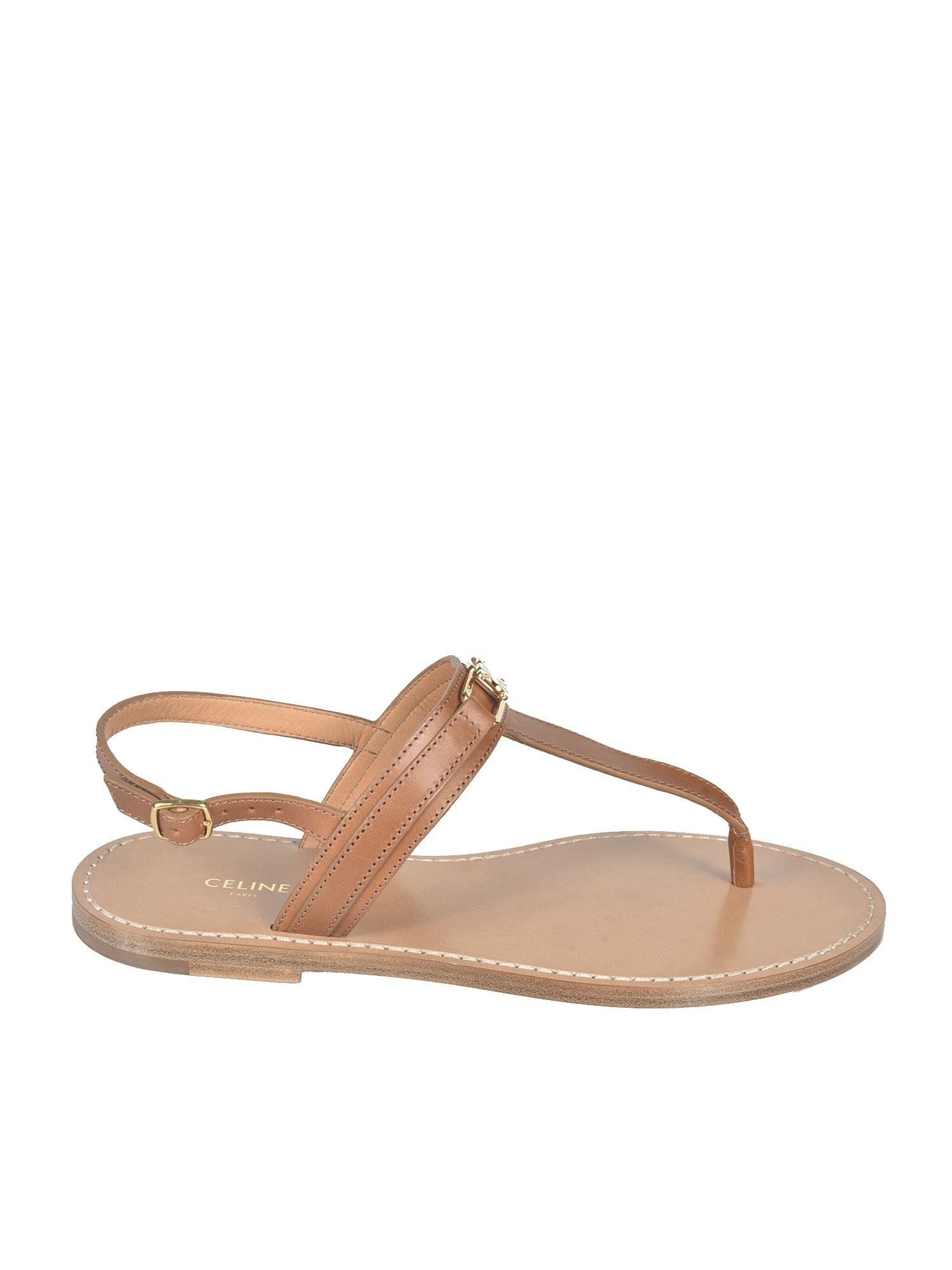 Celine TRIOMPHE SANDALS IN TAN COLOR