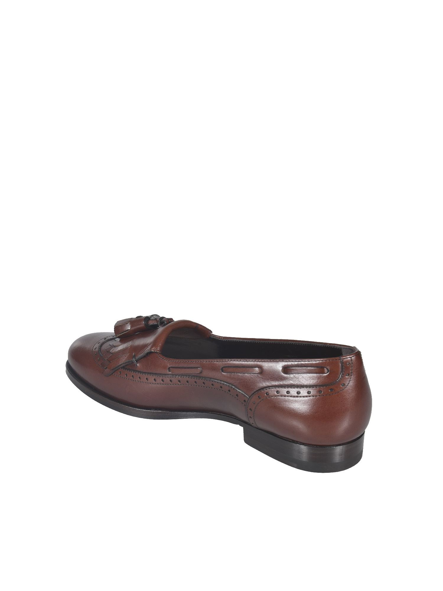 CELINE Leathers ABINGDON LOAFERS IN SEPIA COLOR