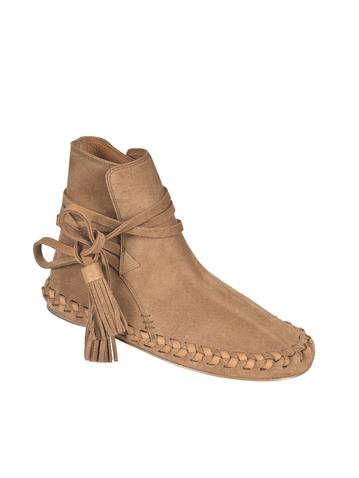 CELINE Suedes MARLOU ANKLE BOOTS IN BROWN