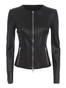 DROMe - Fitted leather jacket