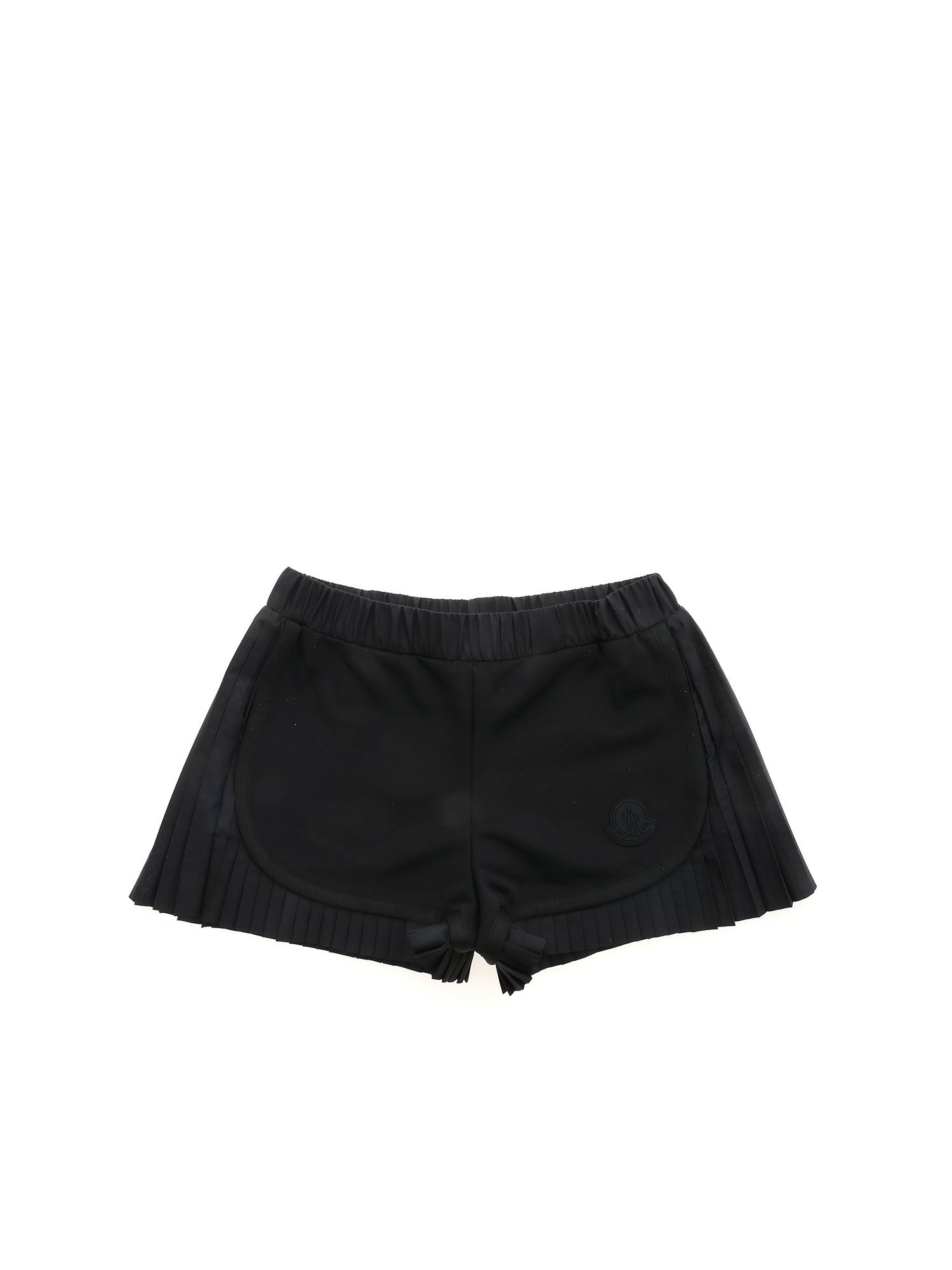 Moncler Jr PLEATED DETAILS SHORTS IN BLACK