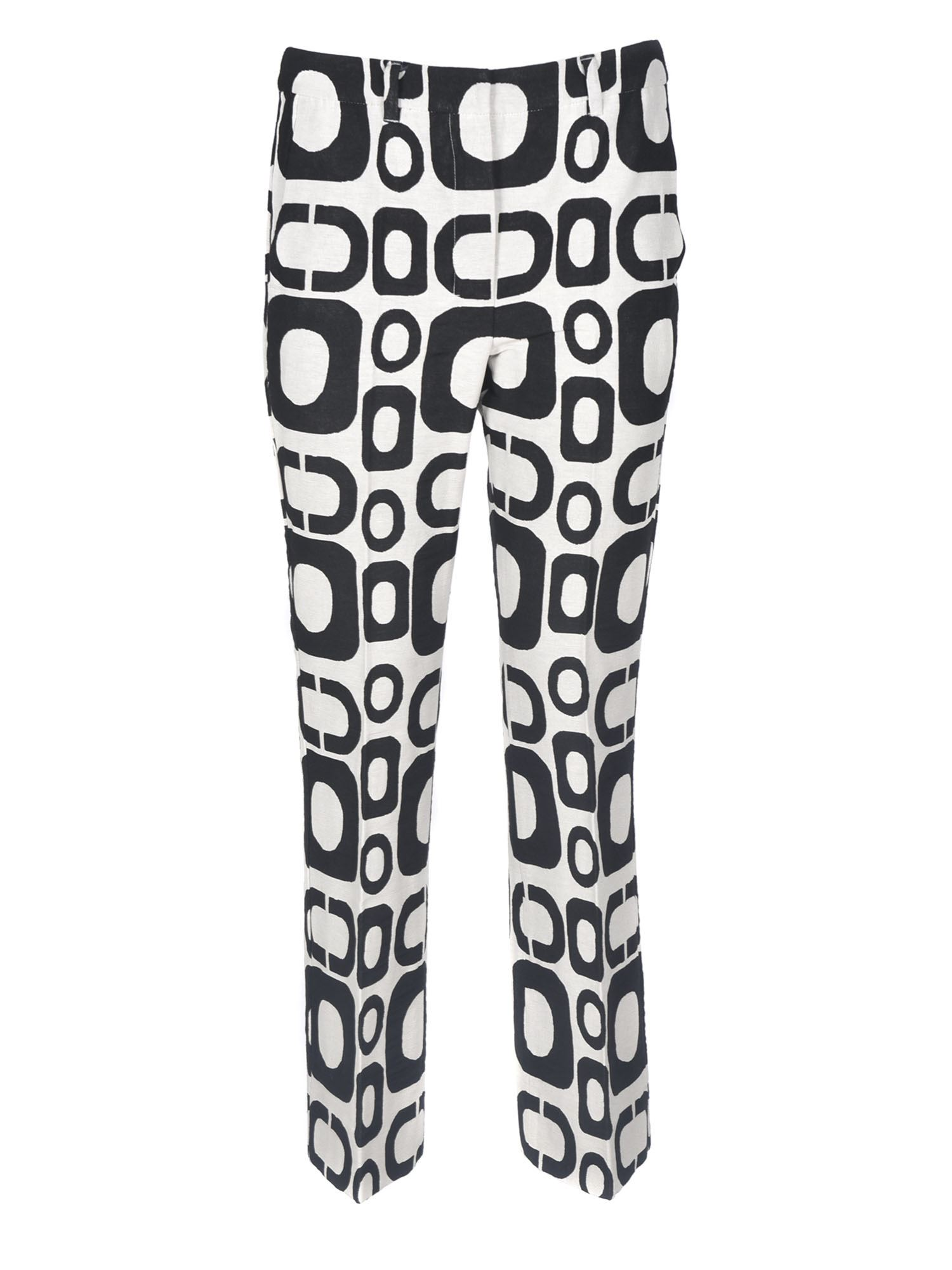 Max Mara RIVOLO TROUSERS IN BLACK AND WHITE