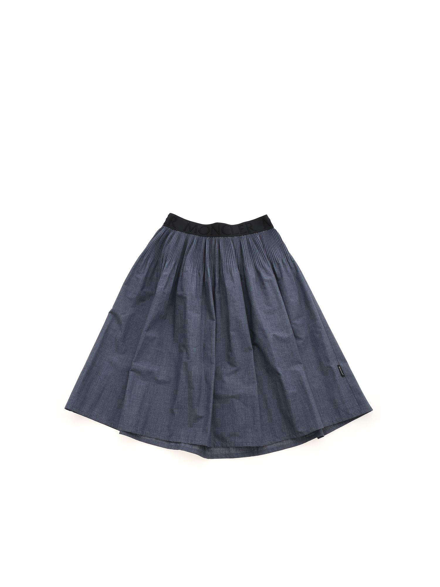 Moncler Jr CONTRASTING DETAILS SKIRT IN BLUE