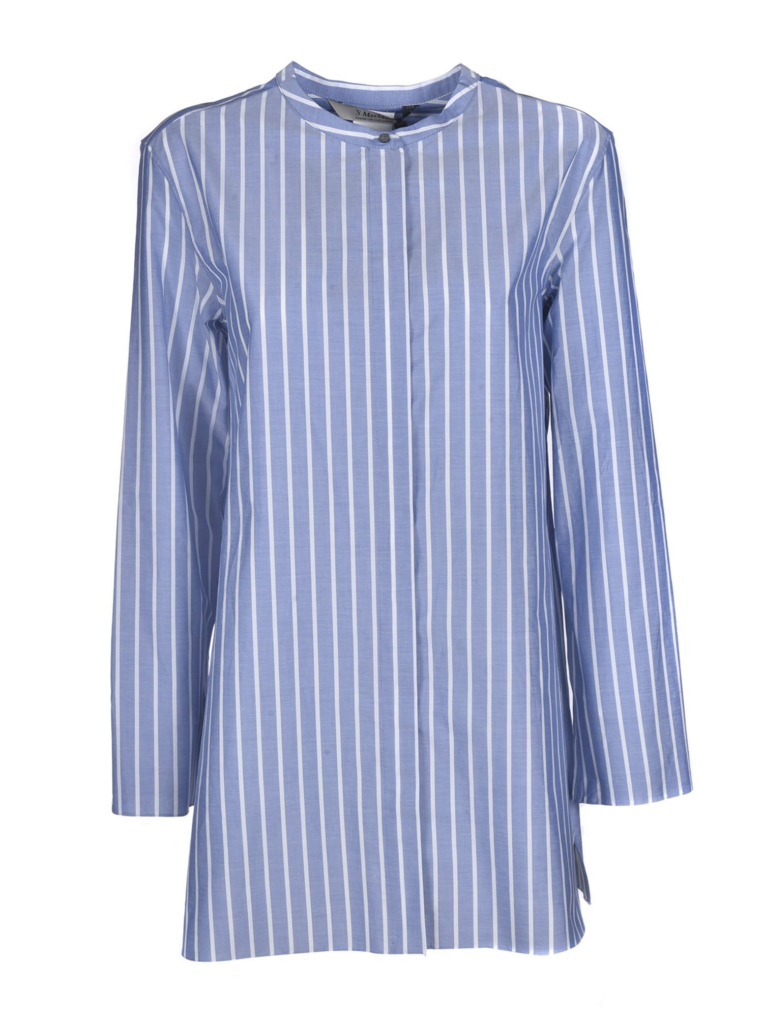 Max Mara ADDI BLOUSE IN LIGHT BLUE