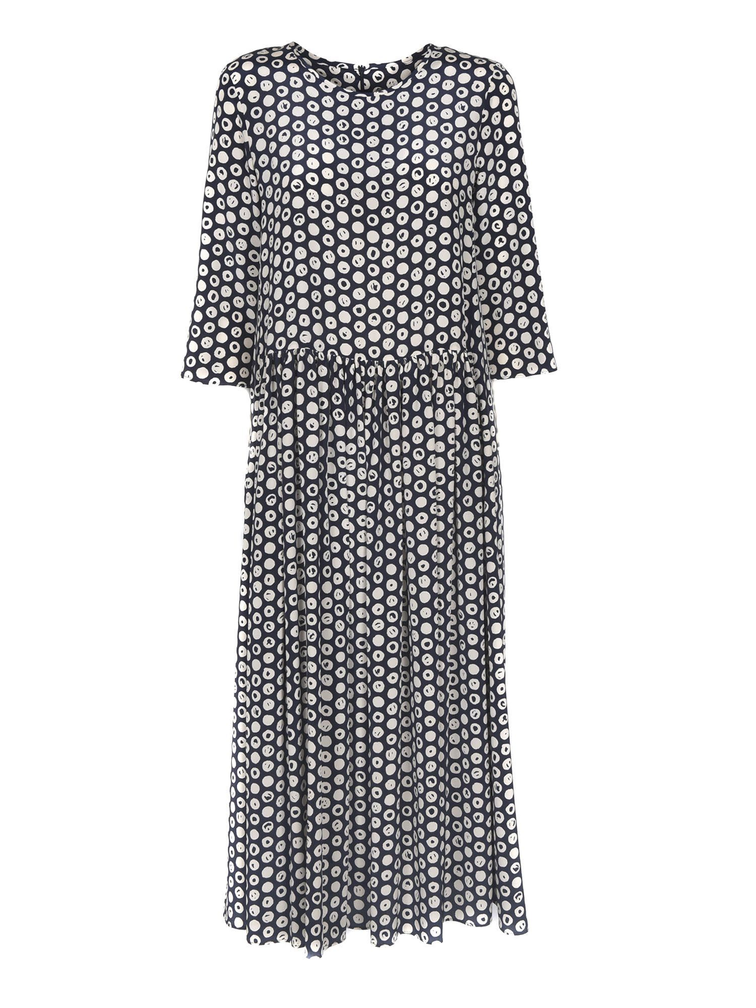 Max Mara GEMMA PRINTED DRESS IN BLUE