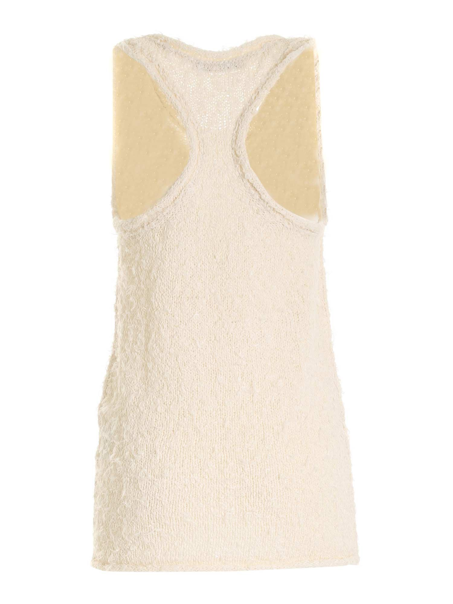 ACNE STUDIOS Cottons KNITTED TOP IN CREAM COLOR