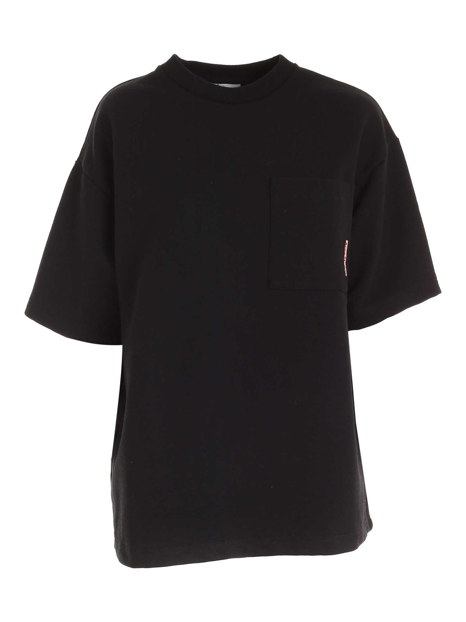 Acne Studios OVERSIZE SHORT SLEEVES SWEATSHIRT IN BLACK