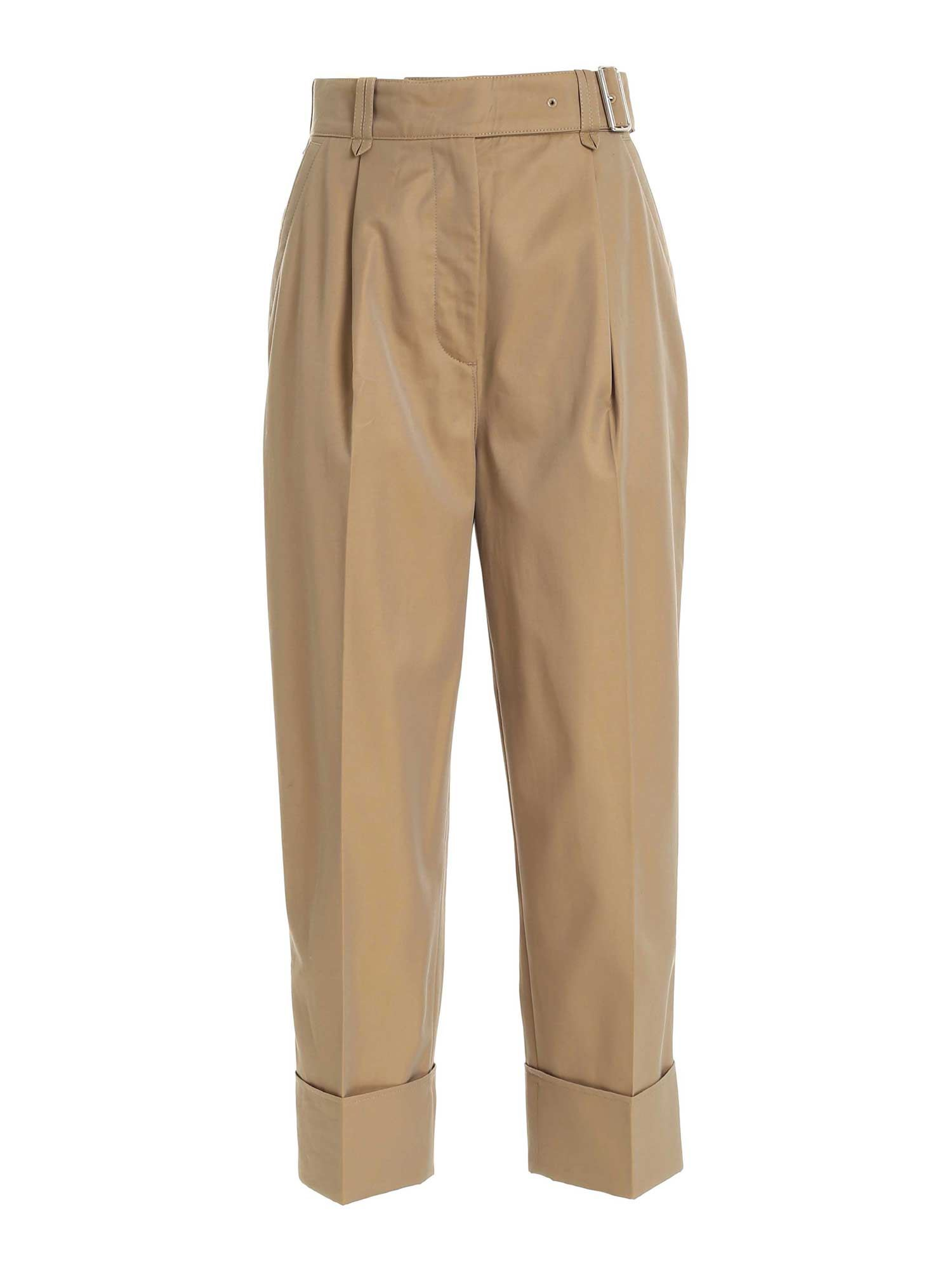 Acne Studios TURNED-UP HEM PANTS IN HAZELNUT COLOR
