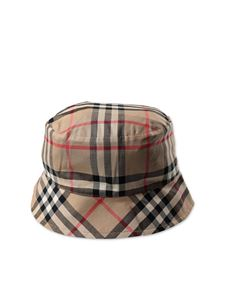 Burberry - Checked bucket hat in beige