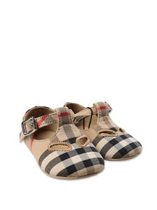Burberry - Checked shoes in Archive Beige