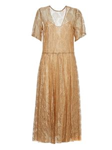 Forte Forte - Lace dress in gold color