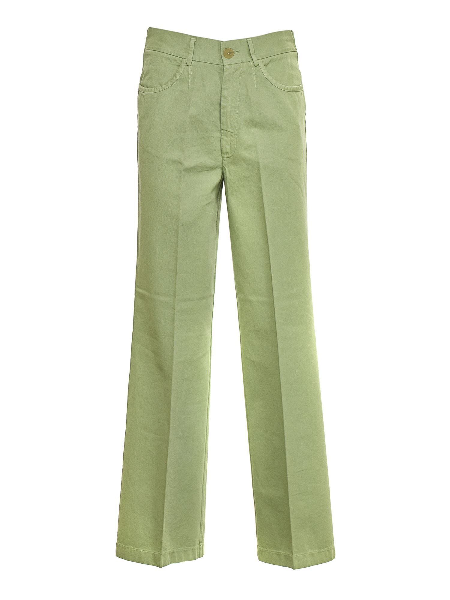 Forte Forte WIDE LEG JEANS IN MINT COLOR