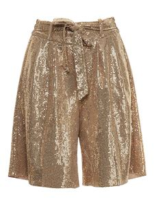 Forte Forte - Bow sequined bermuda in gold color