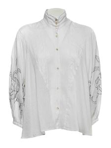 Forte Forte - Puff sleeve shirt in white