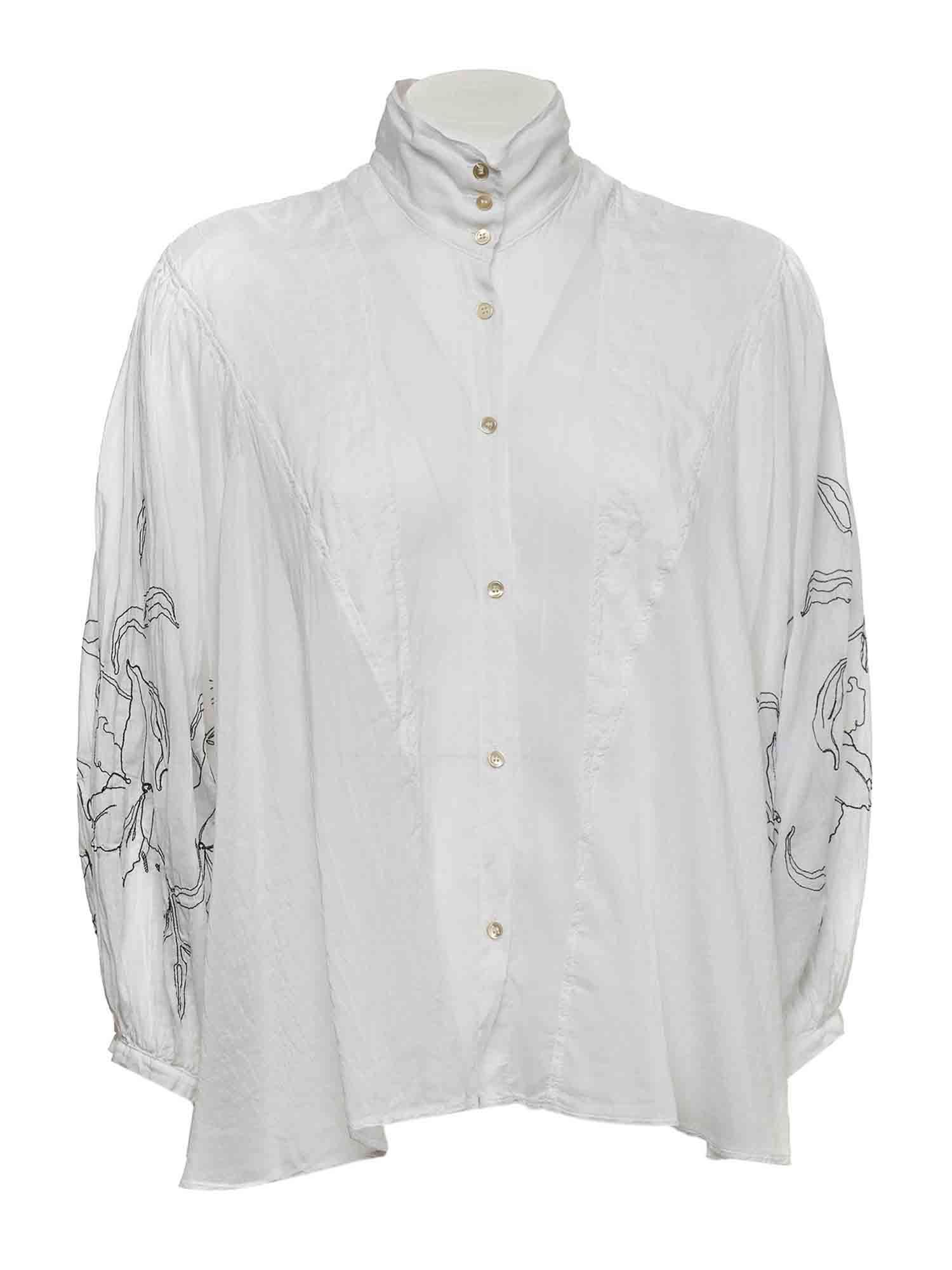 Forte Forte PUFF SLEEVE SHIRT IN WHITE
