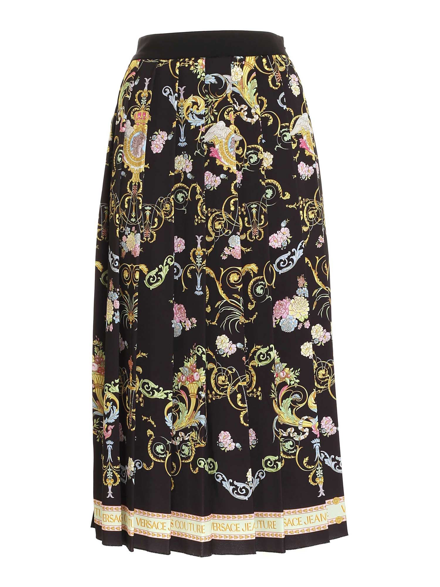 Versace Jeans Couture PRINT LONG SKIRT IN BLACK