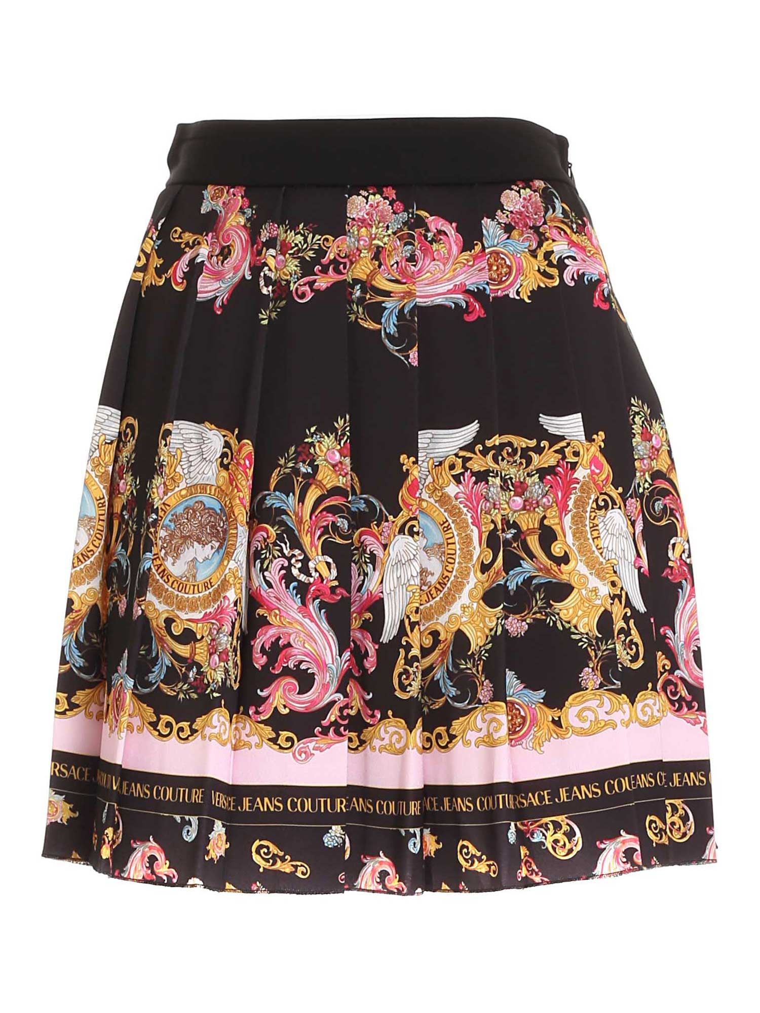 Versace Jeans Couture DAUPHINE PRINT SKIRT IN BLACK