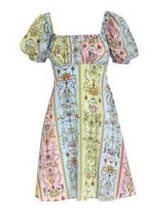 Versace Jeans Couture - Tuileries print dress in light blue