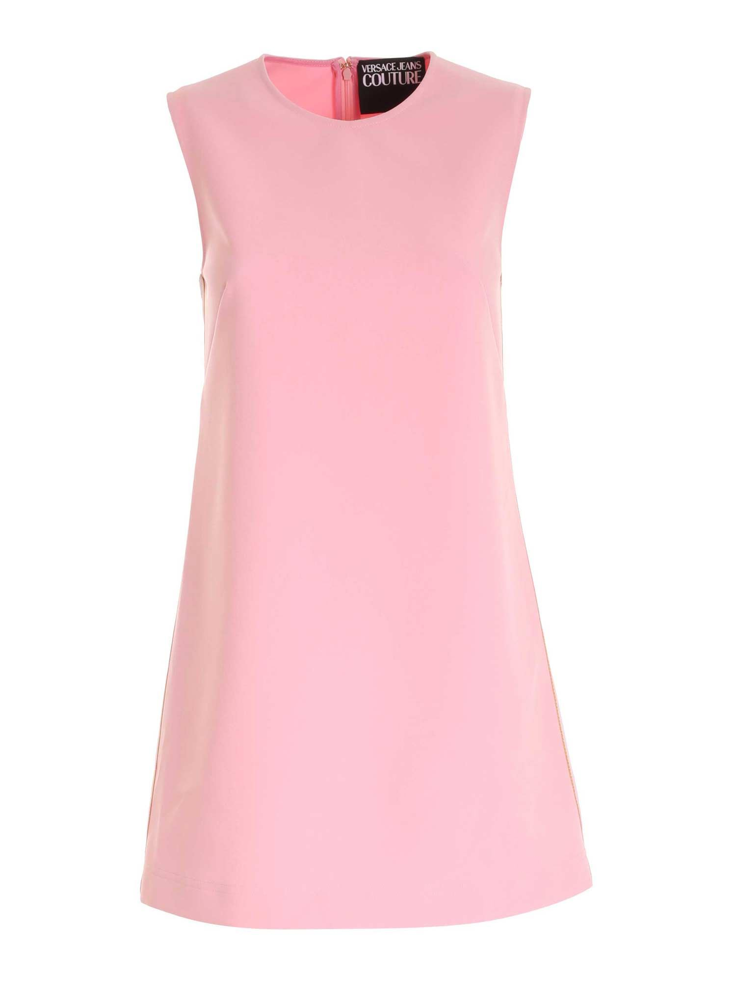 Versace Jeans Couture BRANDED BANDS DRESS IN PINK