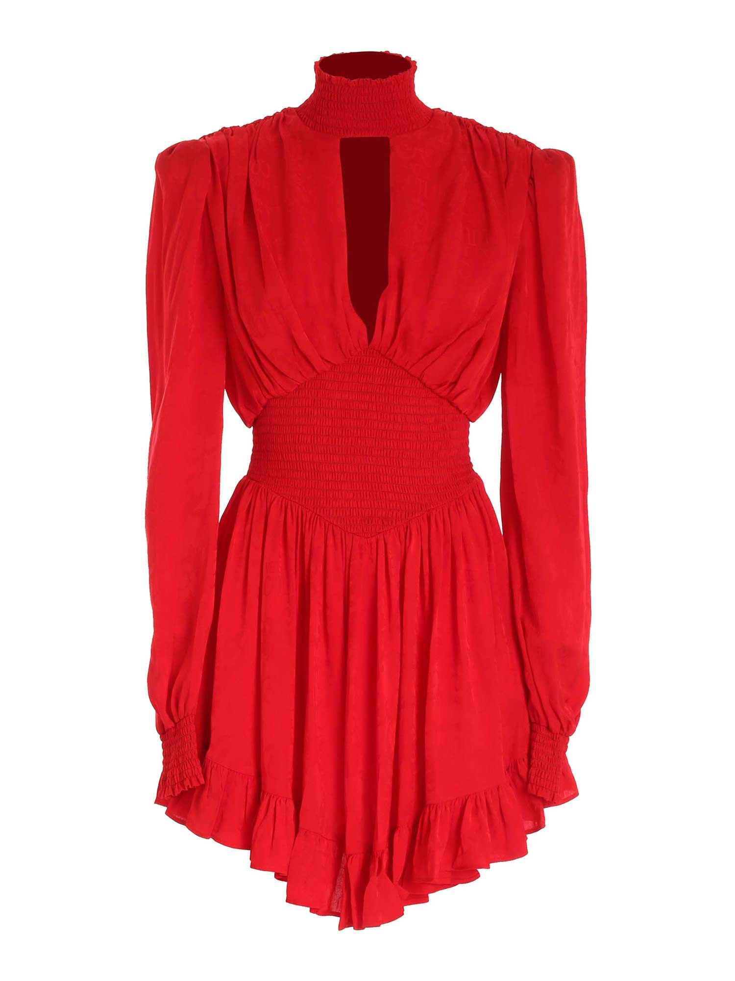 Versace Jeans Couture Linings SMOCK STITCH DRESS IN RED