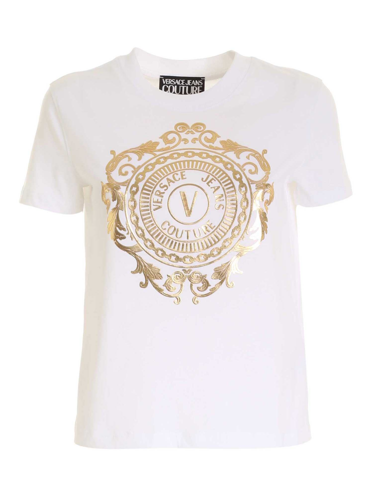 Versace Jeans Couture LOGO T-SHIRT IN WHITE
