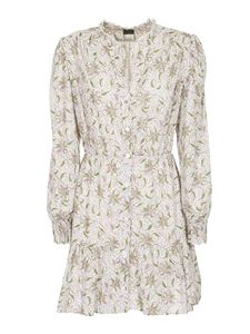 Pinko - Nomade dress in white and green