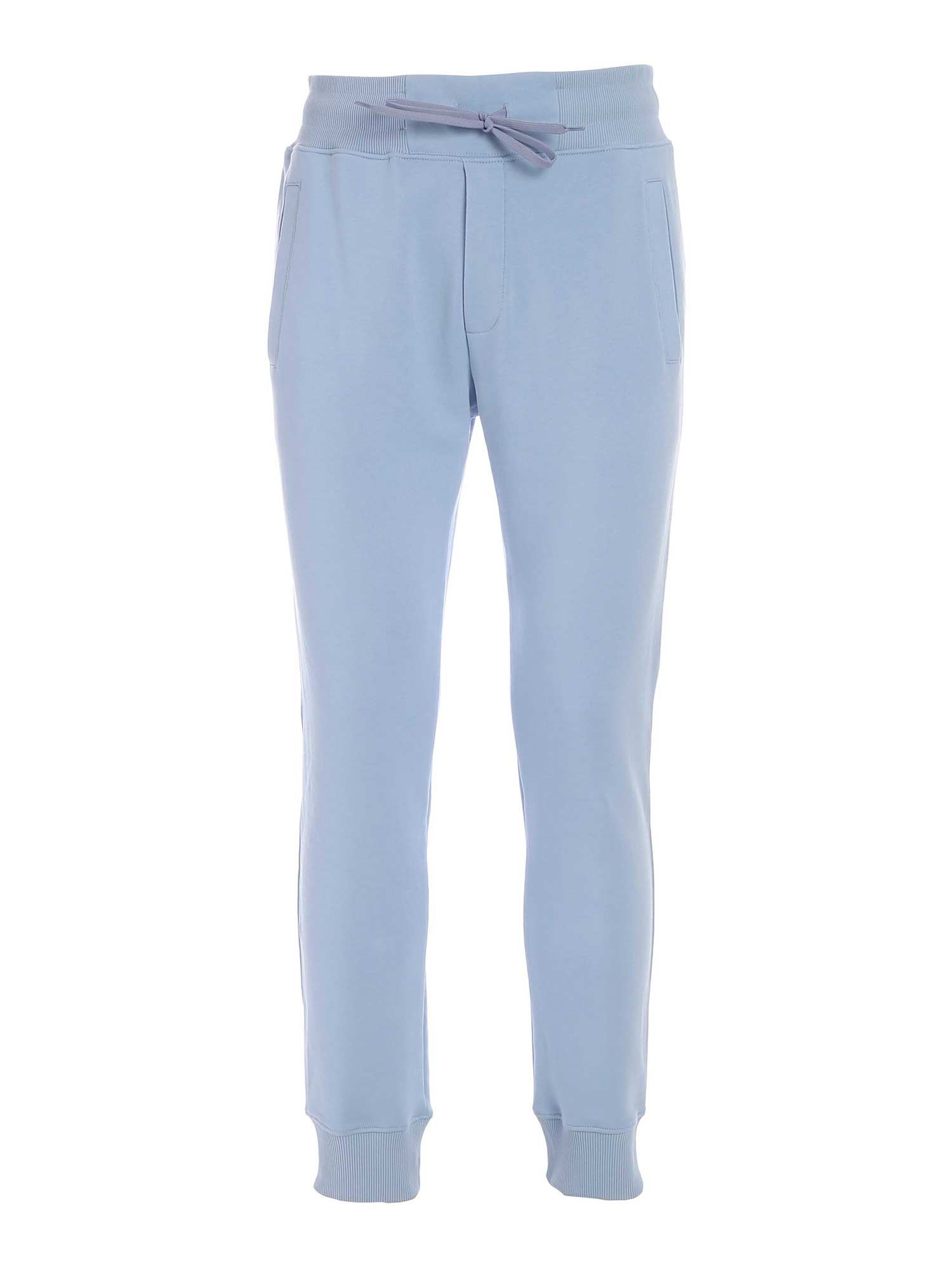 Versace Jeans Couture RUBBERIZED PRINT JOGGERS IN LIGHT BLUE
