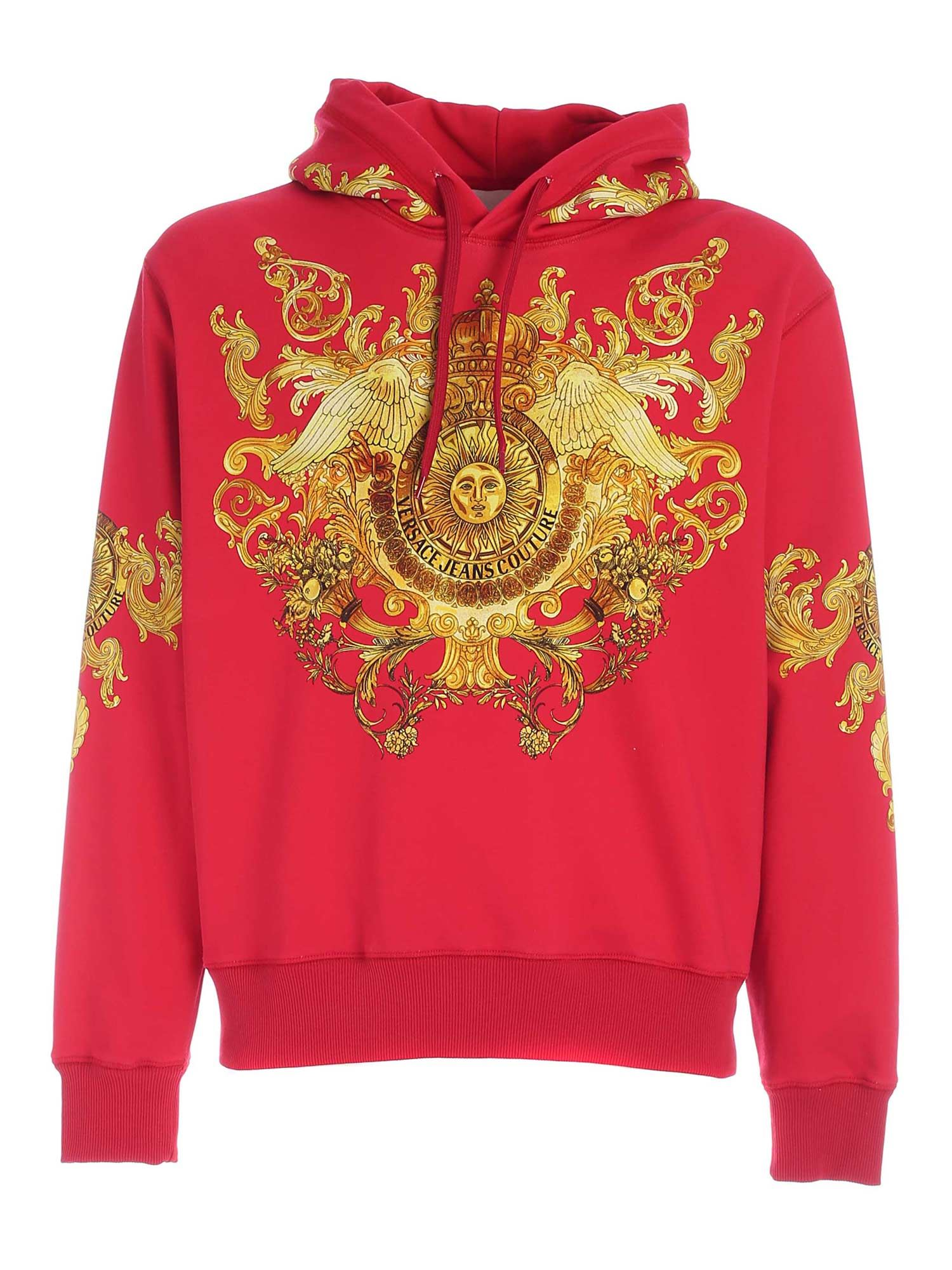 Versace Jeans Couture ROCOCO PRINT SWEATSHIRT IN RED