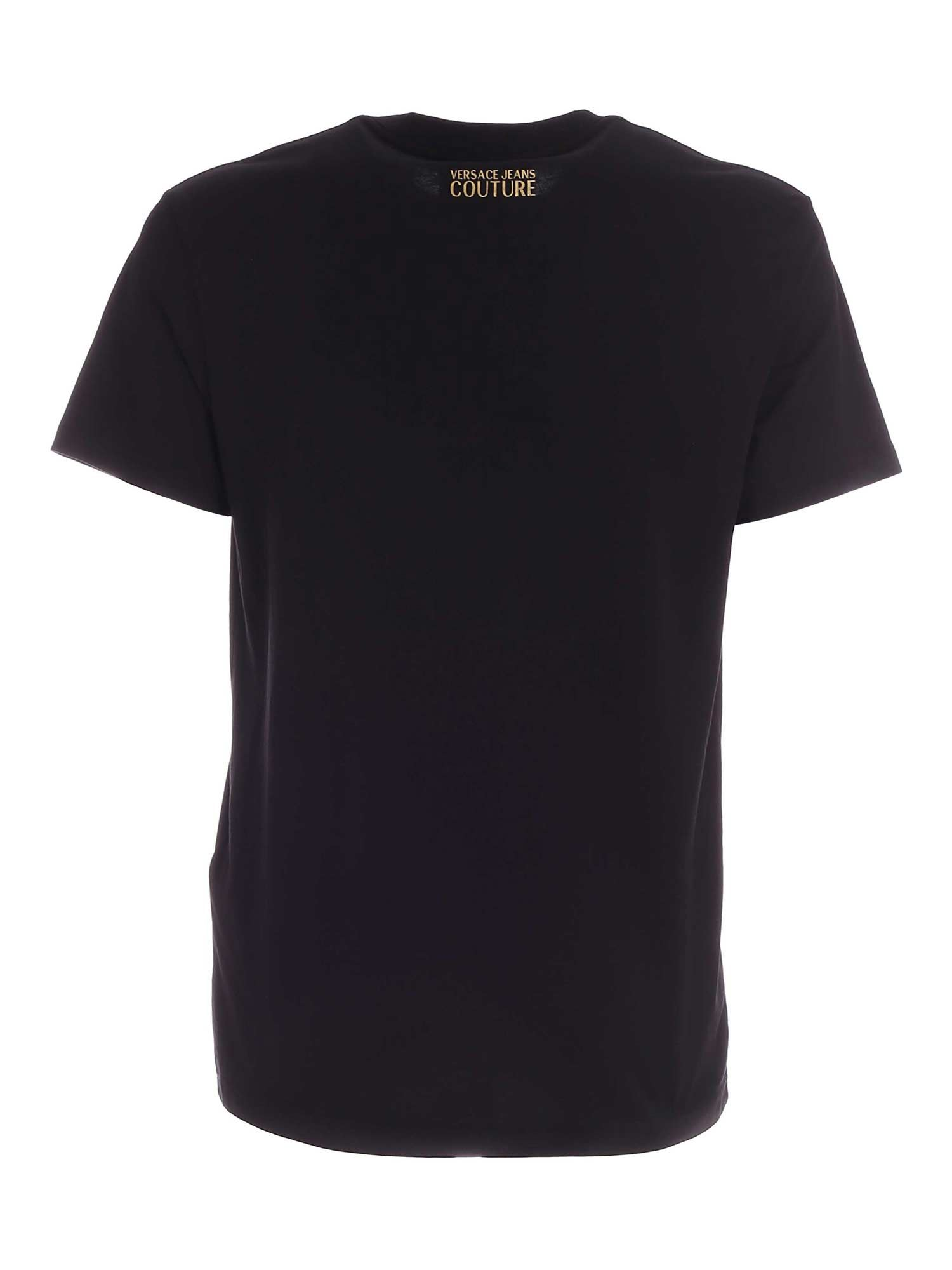 VERSACE JEANS COUTURE Cottons CAPODANNO LUNARE PATTERN T-SHIRT IN BLACK