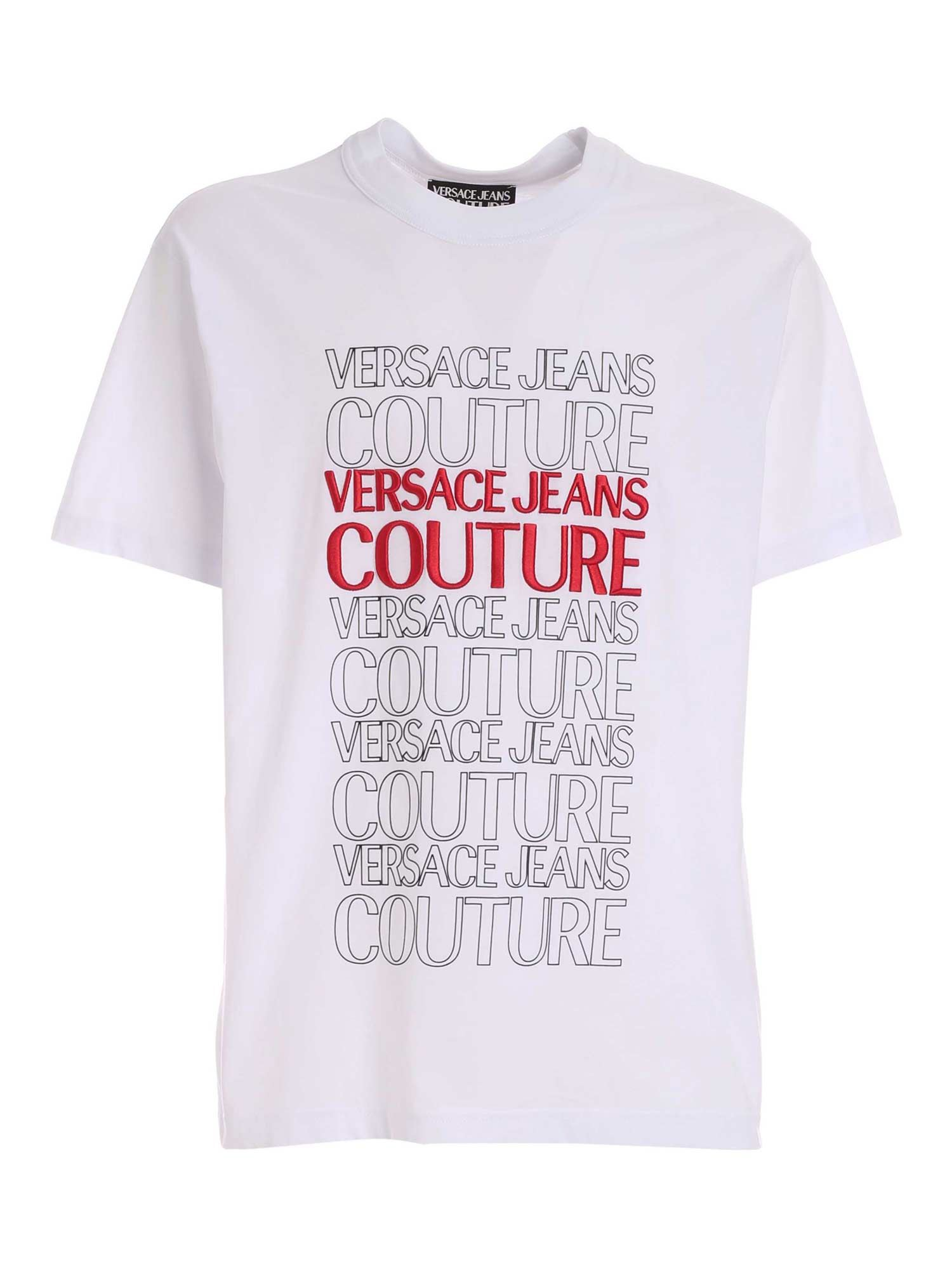 Versace Jeans Couture LETTERING LOGO T-SHIRT IN WHITE