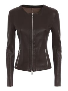 DROMe - Leather jacket in brown