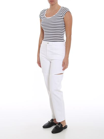 J Brand - Cut Out jeans in white