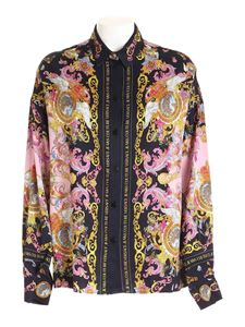 Versace Jeans Couture - Dauphine print shirt in black