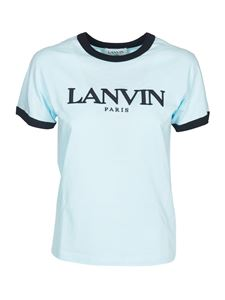 Lanvin - Embroidered logo t-shirt in light blue