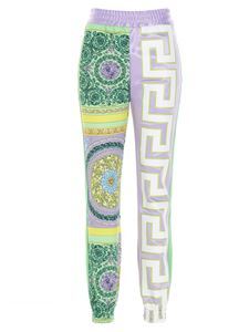Versace - Mosaic Baroque printed tracksuit trousers